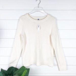 Old Navy NWT Knit Cream Cozy Sweater Long Sleeve